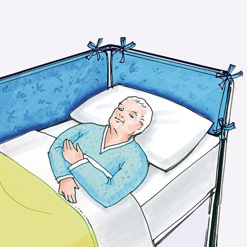 Cod 8671 cuscino paracolpi sponde letto testa piedi vetrina cotoniera facchini - Sponde letto per anziani ...